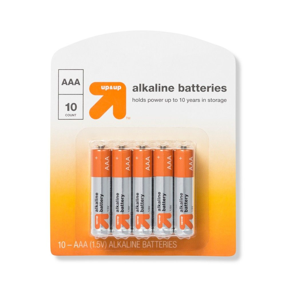 Aaa Batteries 10ct Up Up In 2021 Aaa Batteries Batteries Alkaline Battery