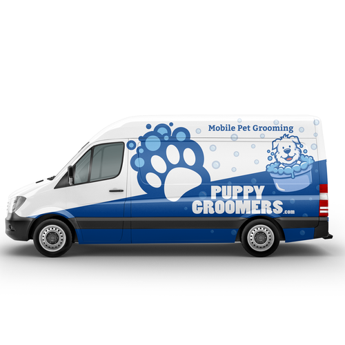 Puppygroomers Com Needs An Amazing Vehicle Wrap To Get The Attention Of Pet Owners To Trust Us Car Truck Or Van Wrap Contest Car Truck Van Wrap Car Wrap Van