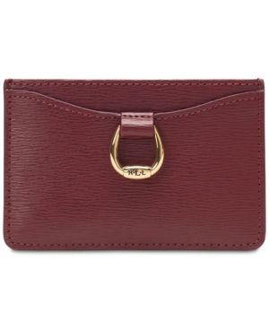 Lauren Ralph Lauren Bennington Mini Card Case - Merlot Leather Card Case d90edbf1b32b8