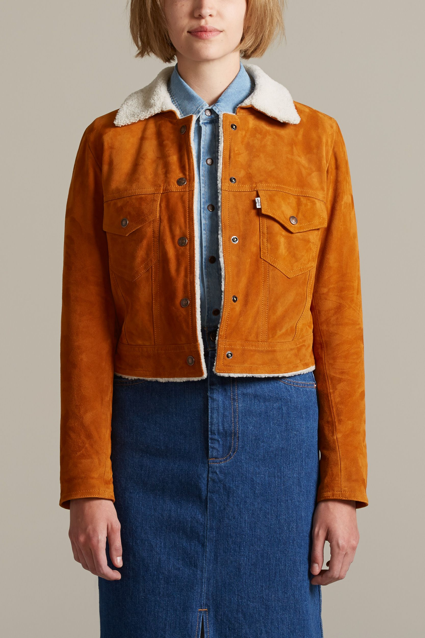 Sherpa Suede Clothing Levi's Vintage Jacket Style Western Rq0wqFC