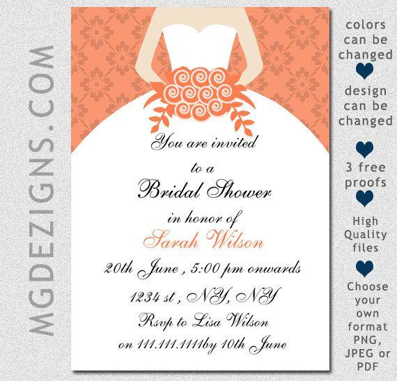 PRINTABLE Bridal Shower Invitation Template, Modern Bridal Shower ...