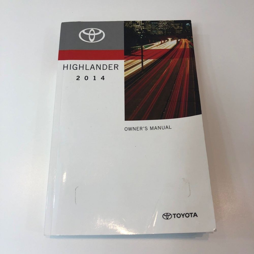 2014 toyota highlander oem owners manual toyota 2014 toyota highlander oem owners manual fandeluxe Images