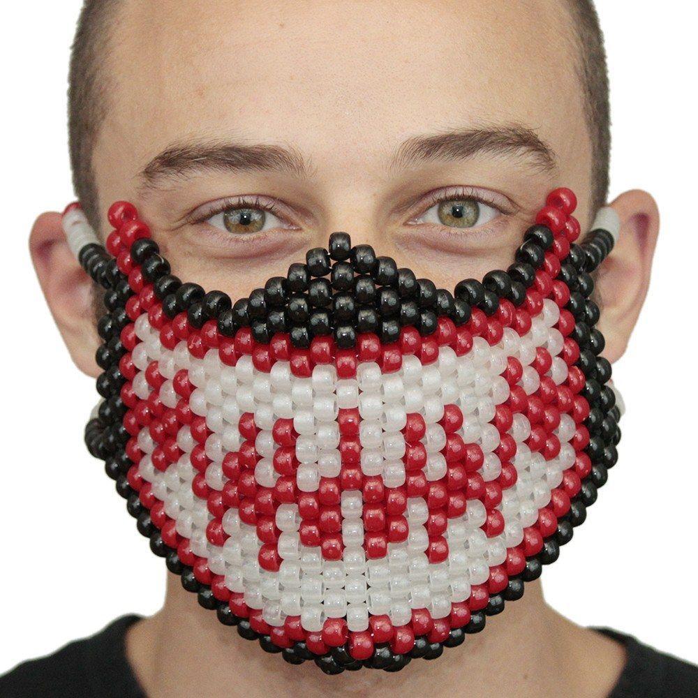 Glow In The Dark Red Venom Spiderman Full Kandi Mask