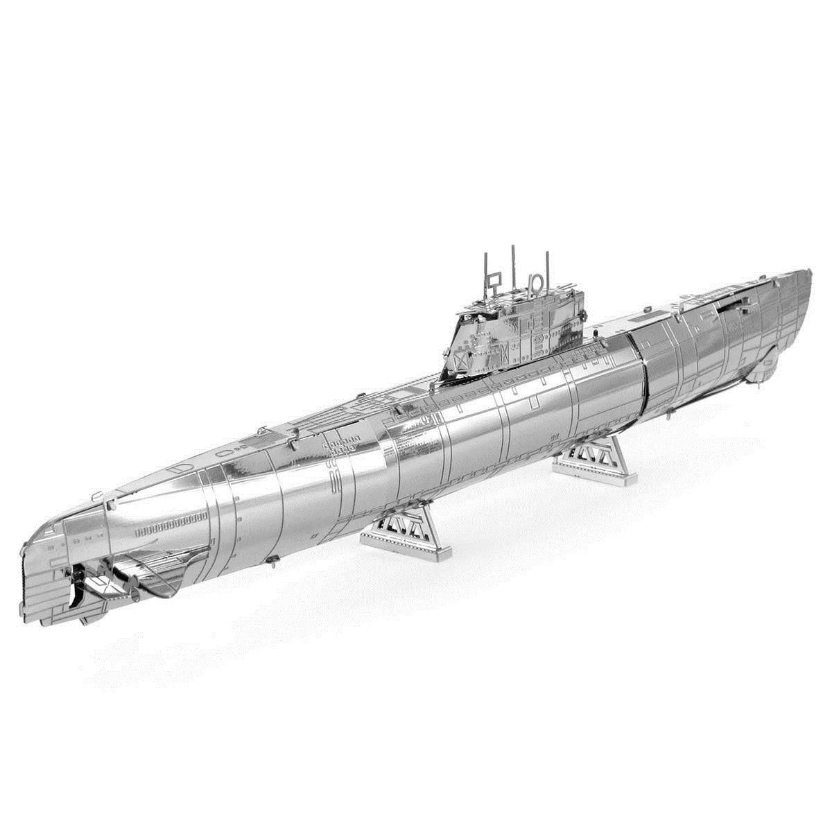 Fascinations Metal Earth GERMAN U-BOAT TYPE XXI 3D Laser Cut Submarine Model Kit