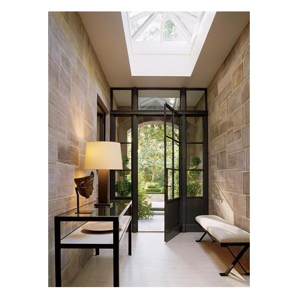 Foyer Skylight - Contemporary - entrance/foyer ❤ liked on Polyvore featuring rooms