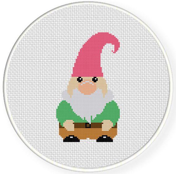 Gnome Cross Stitch Pattern | Xstitch Gnomes | Pinterest | Punto de ...