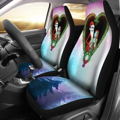 Jack Sally Christmas Car Seat Covers