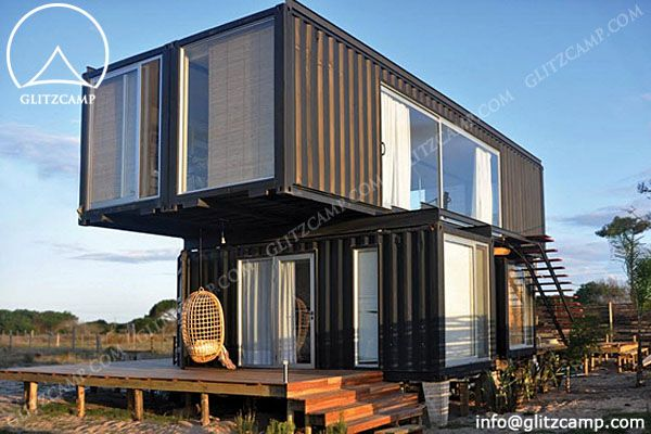 Container house glitzcamp glamping tent hotel luxury lodge tent cool hotel concept - Container homes costa rica ...