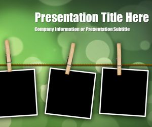 Peg Bokeh PowerPoint Template is another free background for ...