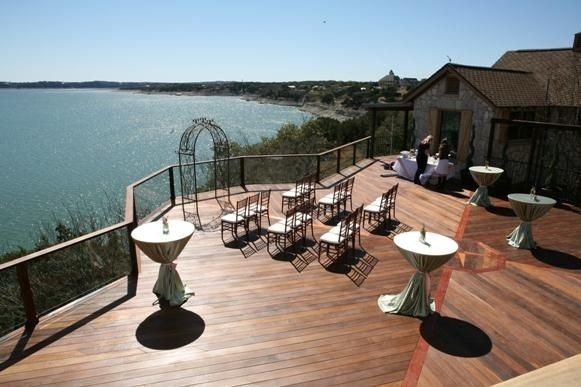 Overlooking Lake Travis Austin Tx Wedding Venue