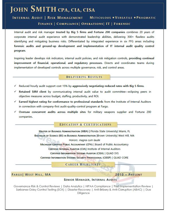 Executive Resume Samples Professional Resume Samples Professional Resume Samples Executive Resume Risk Management