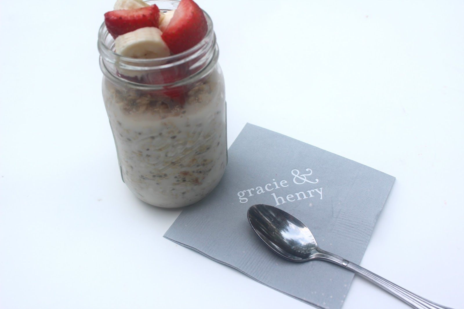 Strawberry and Banana Overnight Oats via With Style and a Little Grace