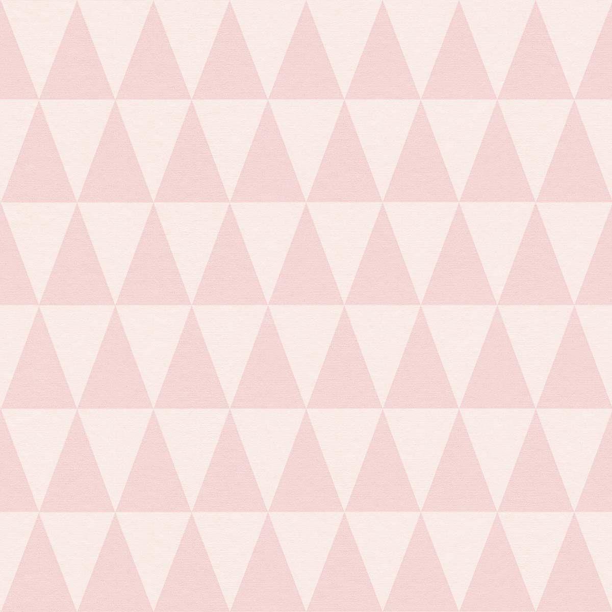 Vliestapete Dreieck Muster Rosa Rasch Textil 148671 Tapeten Rasch Textil Ausgefallene Tapeten