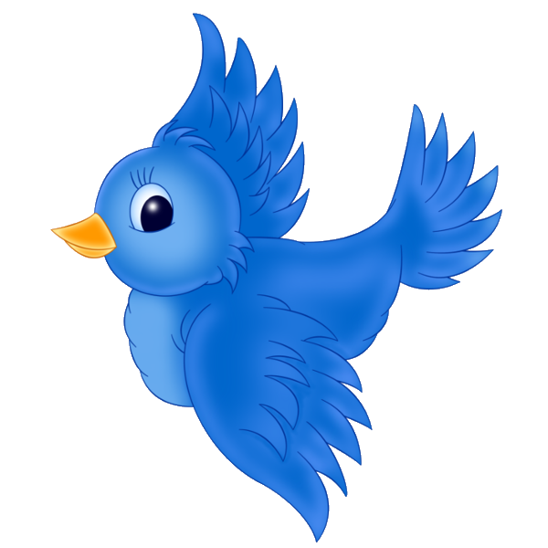 Bird blue. Birds clip art cartoon