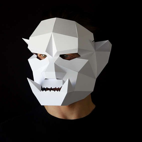 Card Masks To Decorate Orc Mask Make An Orc Mask From Card With This Pdf Download