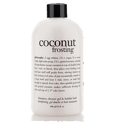 Philosophy Coconut Frosting Shampoo Shower Gel Bubble Bath Coconut Frosting Shower Gel Best Smelling Body Wash