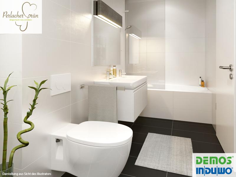 Badezimmer grün ~ Badezimmer illustration perlacher grün demos wohnbau