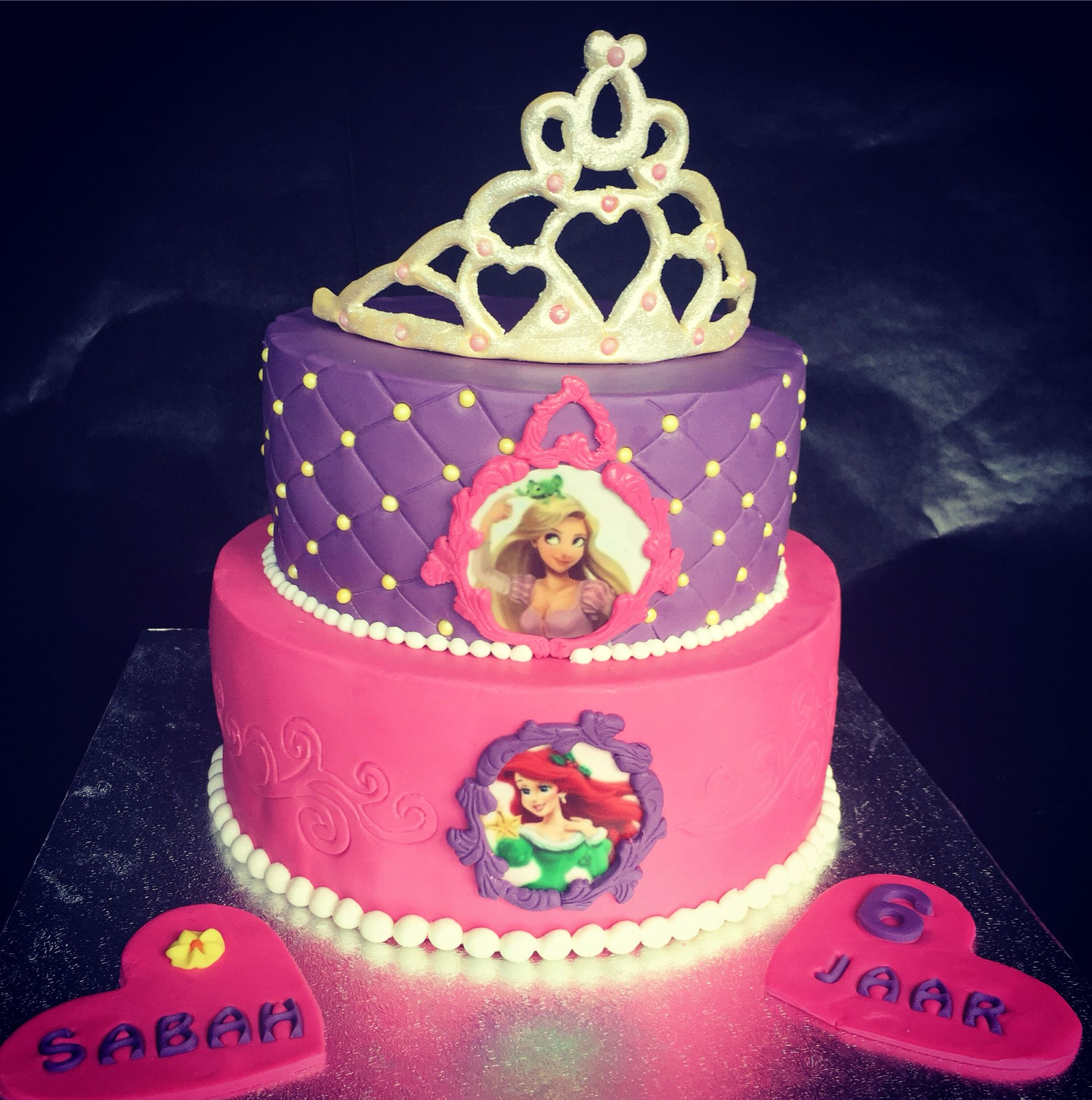 Rapunzelariel cake Birthday Pinterest Ariel cake Cake and Food