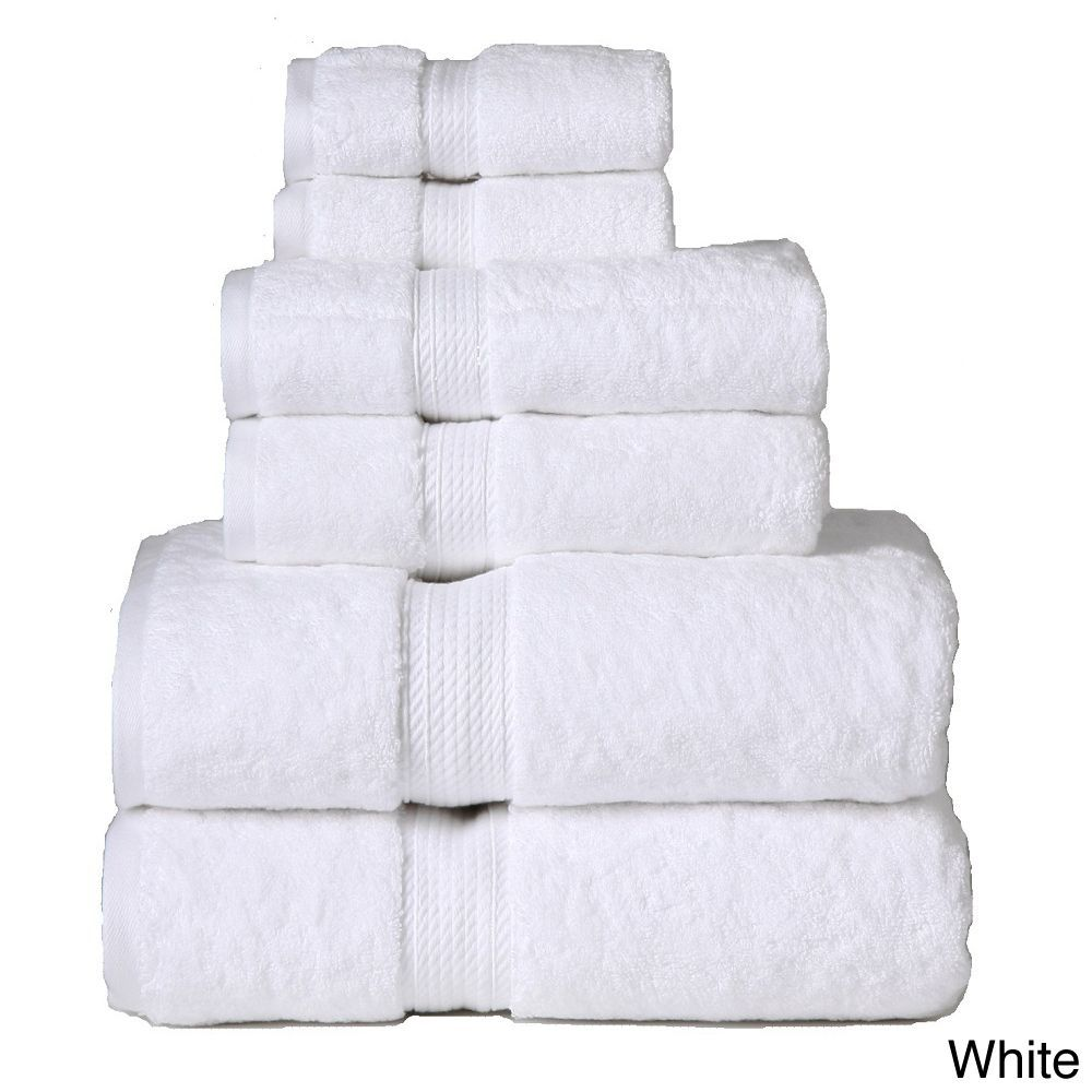 Superior 900 Gsm Egyptian Cotton 6 Piece Towel Set With Images