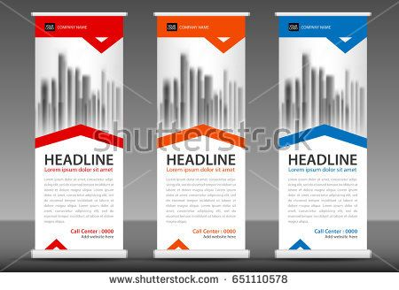 Roll up banner stand template design advertising stand, x-banner ...