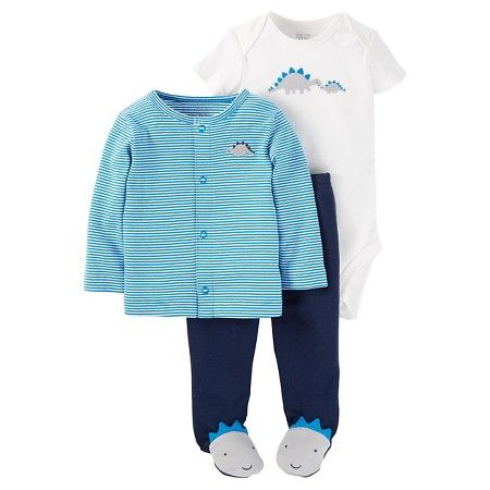 b4e063379 et it by 11/02 at Atlanta Edgewood Target / clothing / baby clothing / baby  boy clothing / outfits Baby Boys' 3 Piece Striped Dino Cardigan Set - Just  One ...
