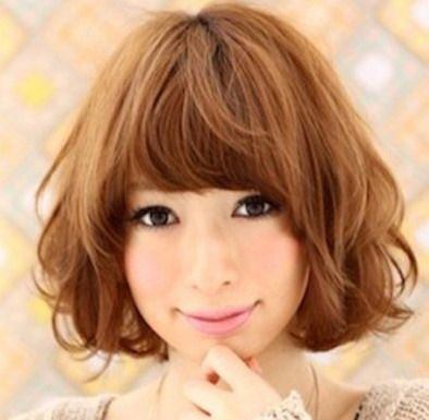 Short Brown Curly Hair With Images Hair Styles Short Hair Styles Asian Hair