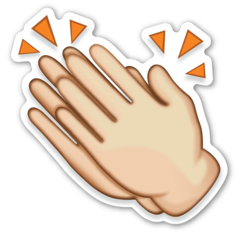 Clapping Hands Sign | EmojiStickers.com