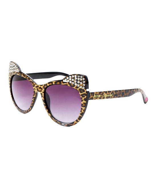 4e18197a5a Betsey Johnson Leopard Kitten Ears Sunglasses