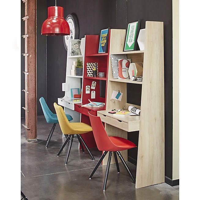 Bureau étagère à 2 tiroirs BLEU - Yolo - Bureaux enfants-Meubles ...