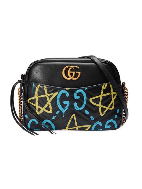 dfc6fc1a3c88 GUCCI GG Marmont GucciGhost shoulder bag. #gucci #bags #shoulder bags  #leather #