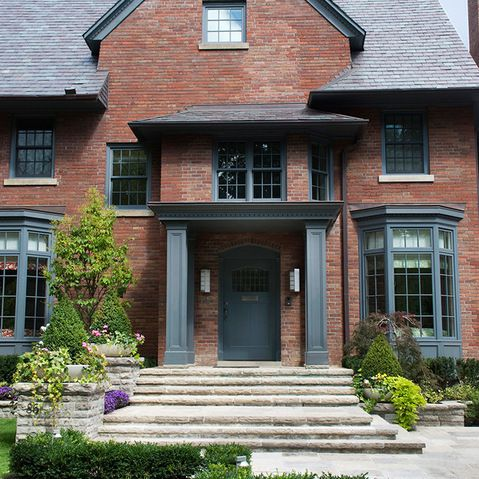 Red Brick Blue Shutters Design Ideas Pictures Remodel And Decor Page 22 For The Home