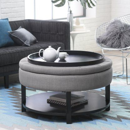 Belham Living Dalton Coffee Table Storage Ottoman With
