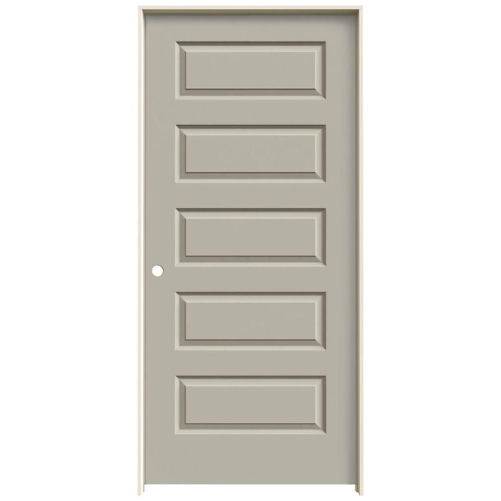 Jeld Wen 18 In X 80 In Molded Smooth 5 Panel Primed White Hollow