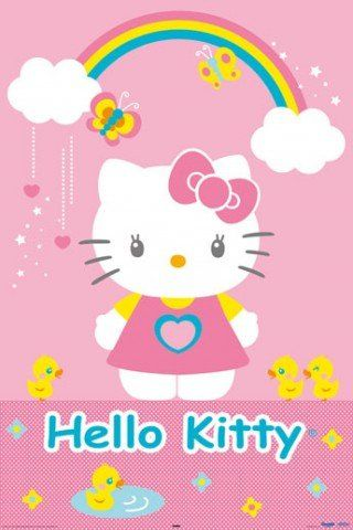 $9.49 Posters: Hello Kitty Poster - Ducks, Butterflies And Rainbow (36 x 24 inches) From 1art1 Get it here: http://astore.amazon.com/ffiilliipp-20/detail/B001IE3MT8/183-2846264-1317711