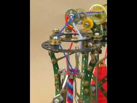 Meccano 3-yarn French knitting machine - the knitting process in slow-ish motion. - http://www.knittingstory.eu/meccano-3-yarn-french-knitting-machine-the-knitting-process-in-slow-ish-motion/