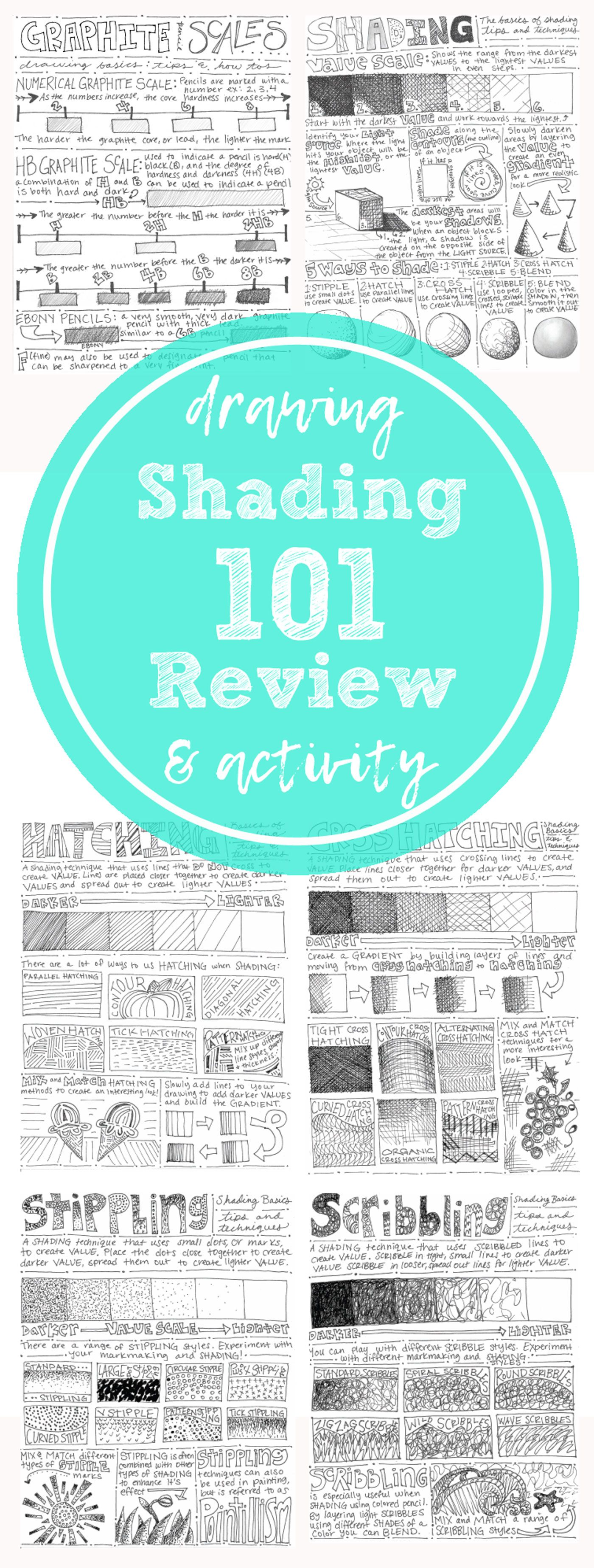 Hatch, Cross Hatch, Stippling, Blending, & Scribbling: Shading ...