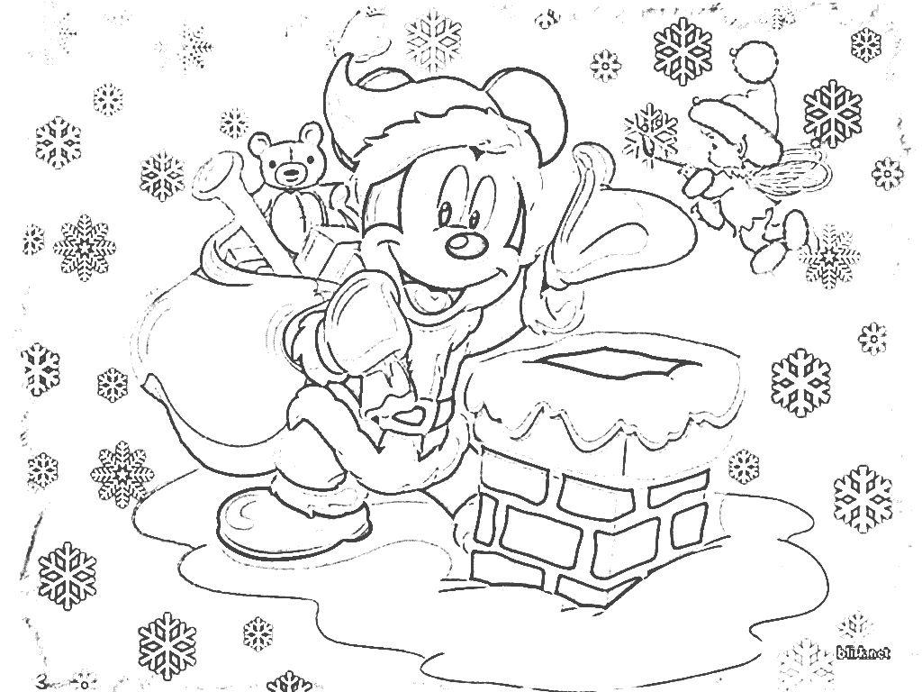 Coloring book pages for christmas - Mickey Mouse Christmas Coloring Pages For Kids