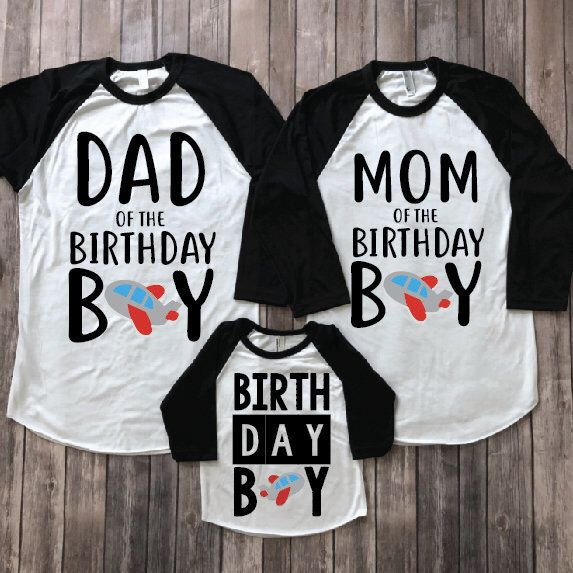 Mom And Dad Of Birthday Boy Matching Parents Shirts Family