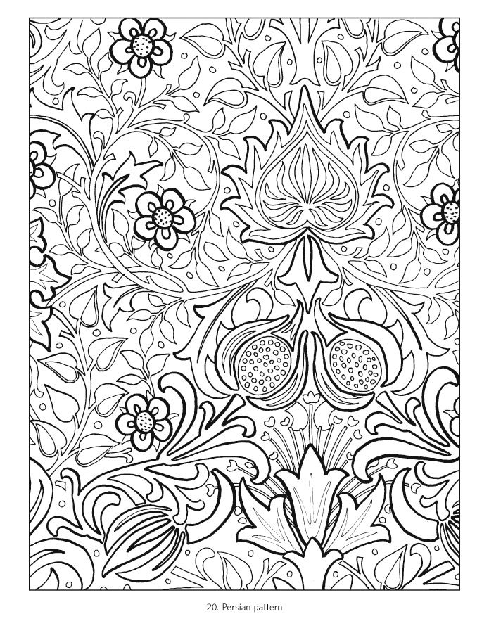 William Morris Coloring Book William Morris Art William Morris Patterns William Morris Designs