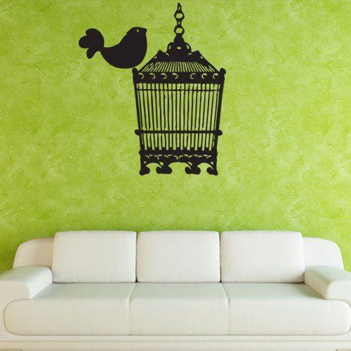 Wall Decal Decor Decals Art Sticker Birdcage Cage Bird (M376) DecorWallDecals http://www.amazon.com/dp/B00FYNERFM/ref=cm_sw_r_pi_dp_anGYub0N8B8E1