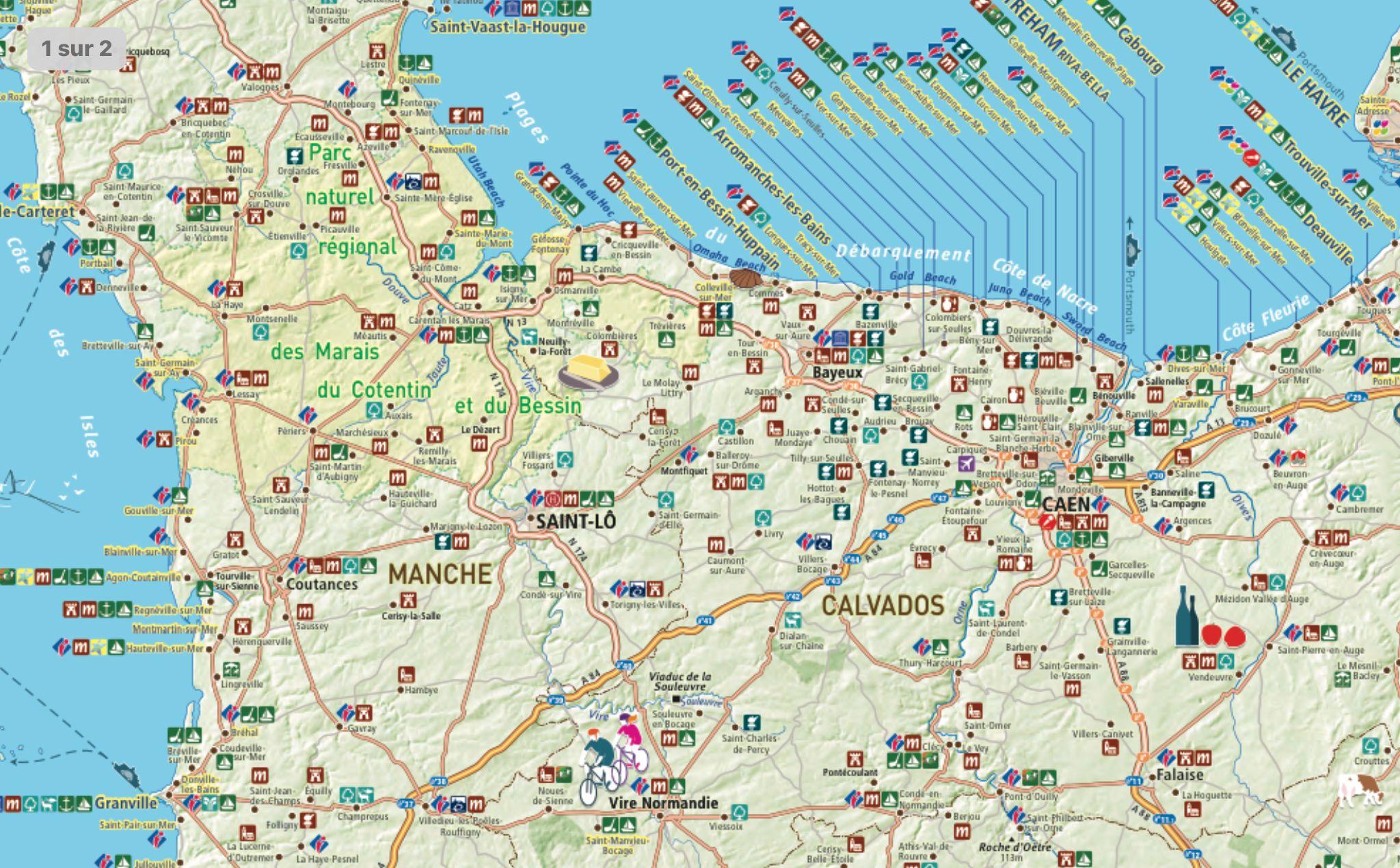 Épinglé par Corinne le Cann sur Circuit côté d opale | Carte touristique, Normandie tourisme ...