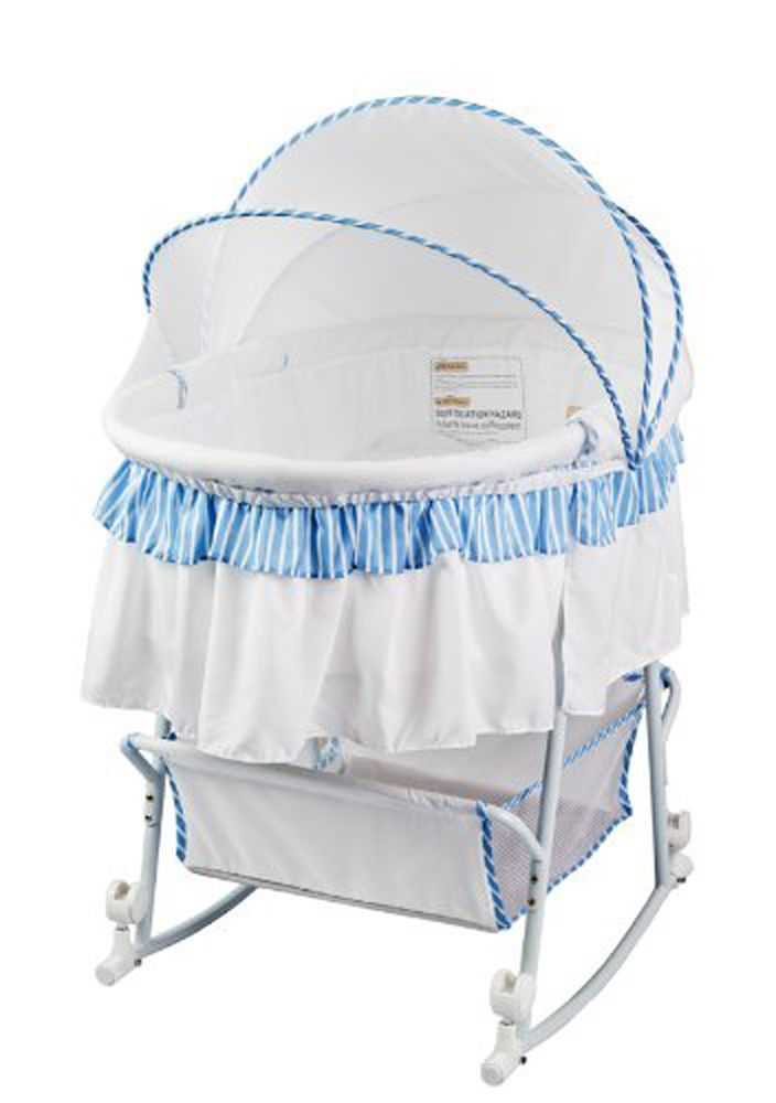 Rocking Baby Bassinet Cradle Newborn Infant Crib Nursery Portable Bed Sleeper Bassinet Cradles And Bassinets Portable Bassinet