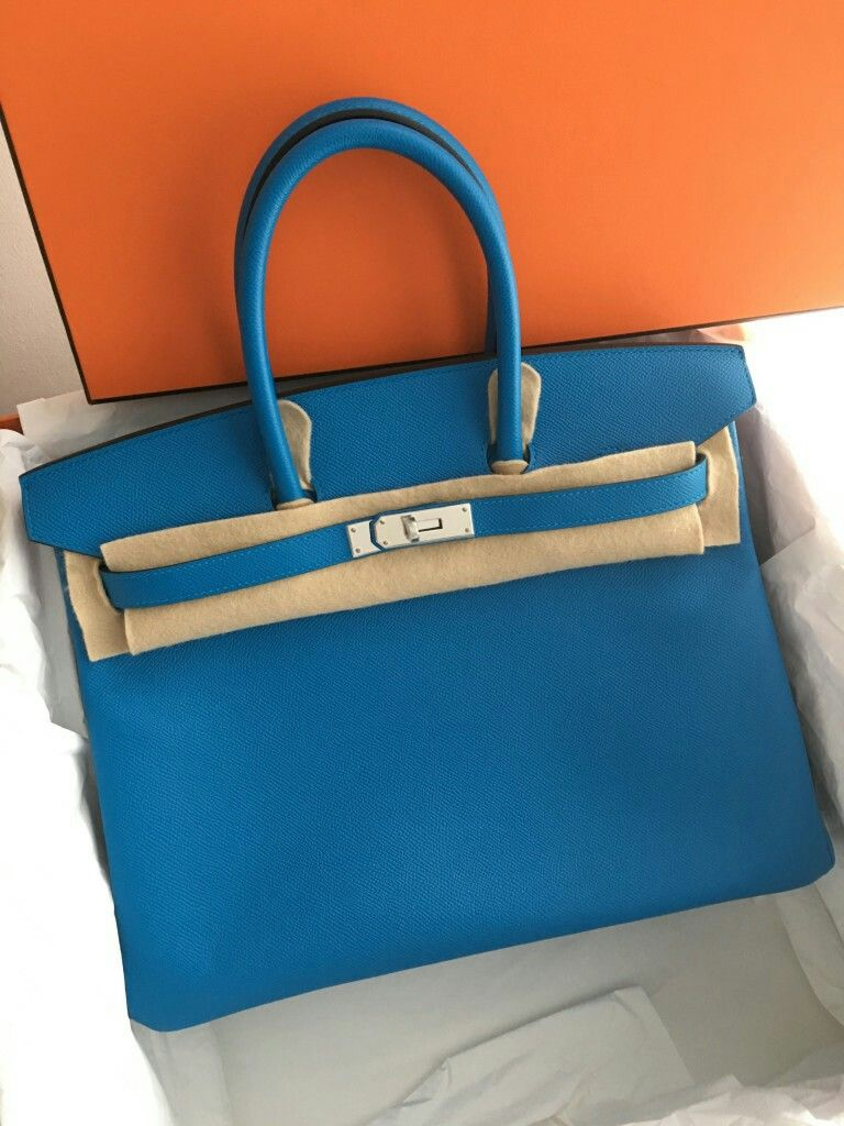 d78dd04e91 Model  Hermes Birkin 35 Stamp  A 2017 Condition  New Color  Blue Zanzibar