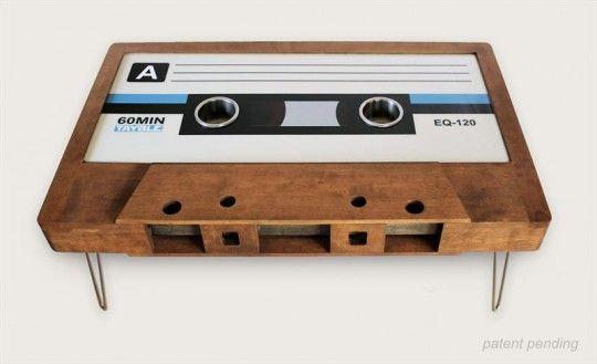 Deco Retro Tayble La Table Basse Cassette Audio Deco Retro Table Basse Design Table Basse