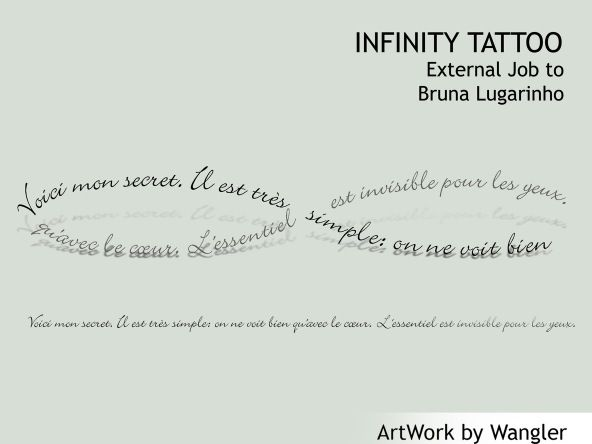 infinity tattoo french text voici mon secret il est tr s. Black Bedroom Furniture Sets. Home Design Ideas