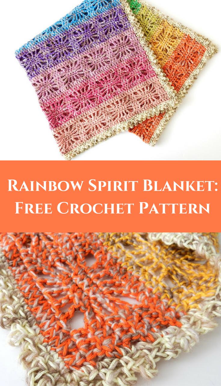 Rainbow Spirit Blanket: Free Crochet Pattern | ALLERHANDE HEKELGOED ...