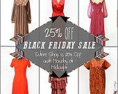 Black Friday Sale! 25% Off Entire Shop Until Monday at Midnight! www.aligras.etsy.com #vintage #etsy #aligrasvintage #vintageshop #blackfridaysale #blackfriday