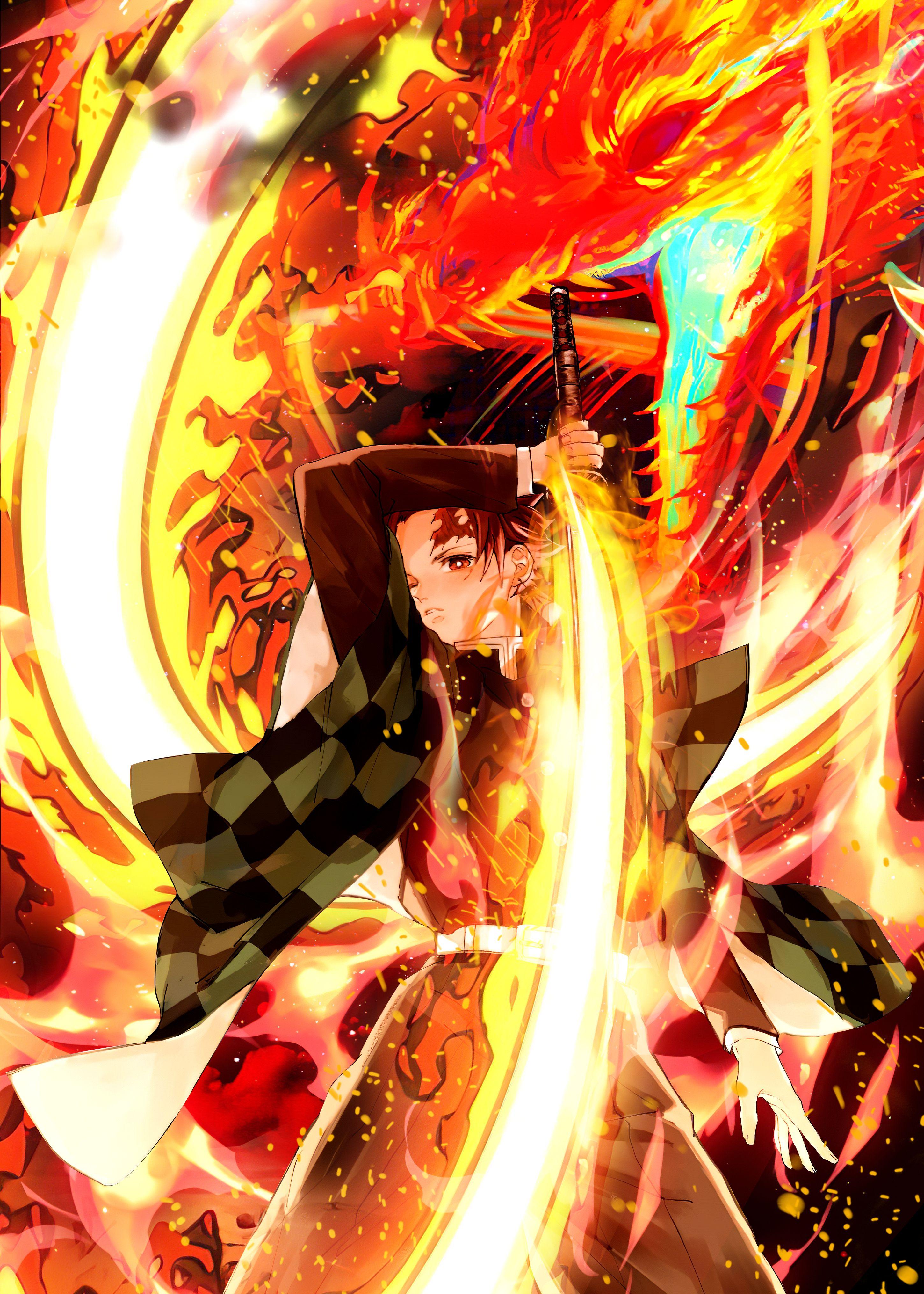39 demon slayer tanjiro metal poster anime demon