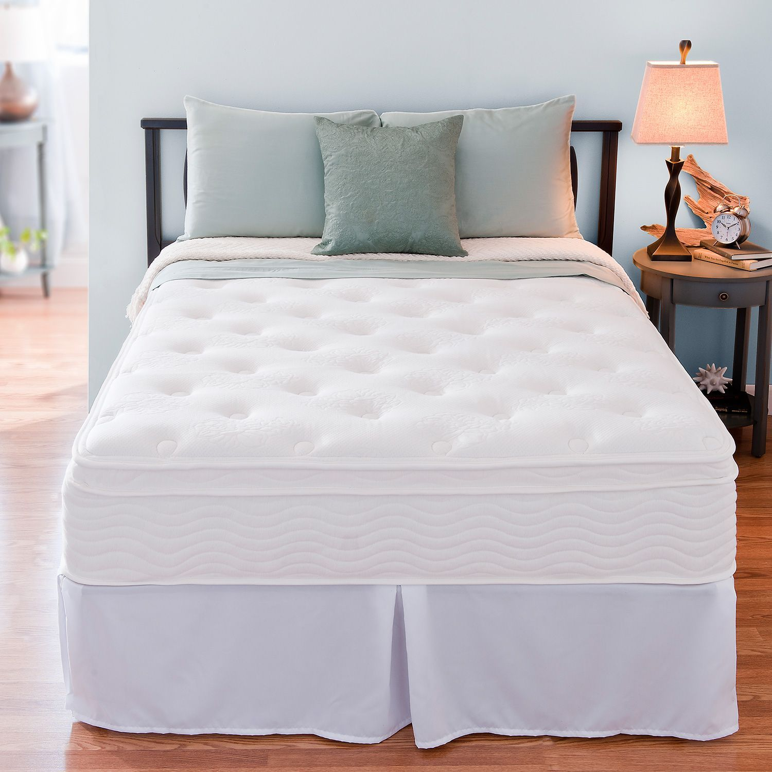 12 Night Therapy Euro Box Top Spring Mattress Bed Frame Set