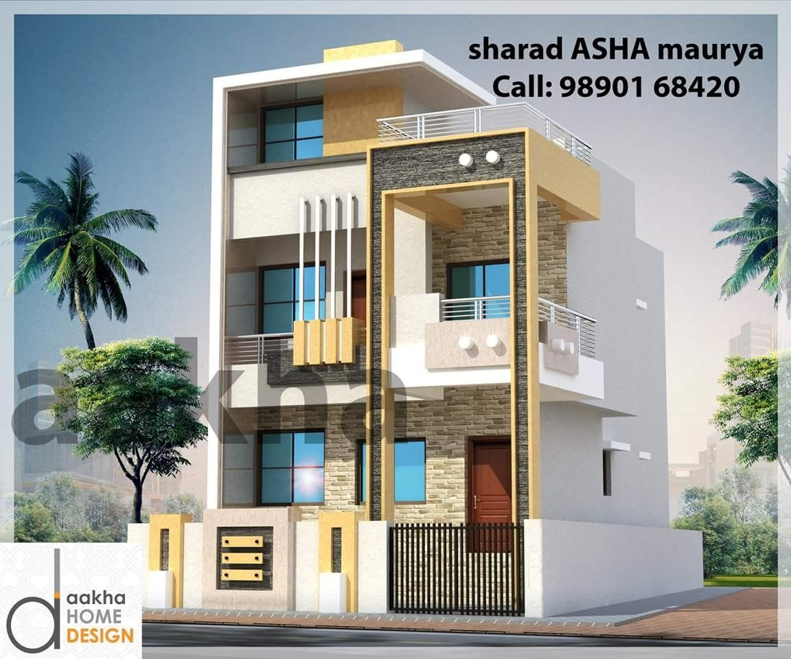 Pin By Dwarkadhish Co On Elevation 3 Duplex House Design 2 Storey House Design Architectural House Plans